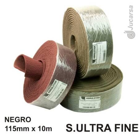 ROLLO FIBRA NEGRO SUPER ULTRA FINE 10X115