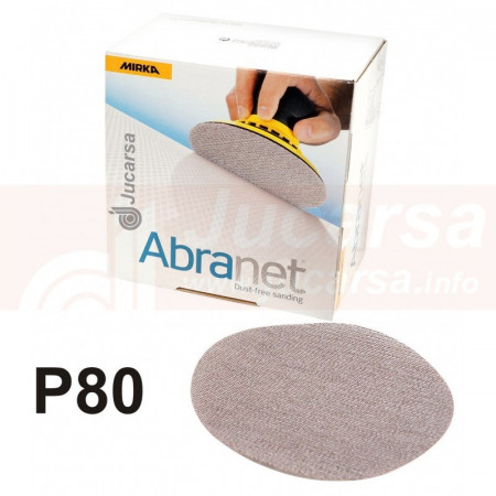 DISCOS ABRANET D150 mm P80 (50 und)