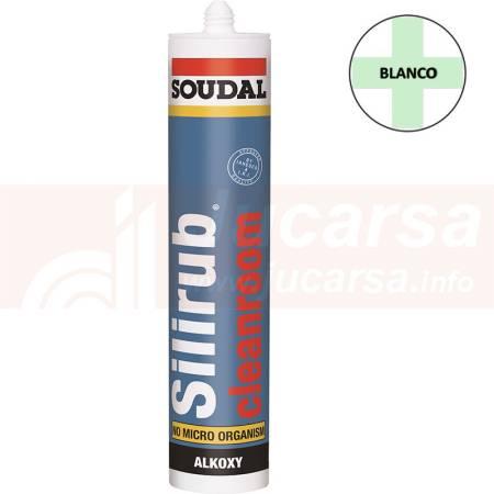 Cartucho 310 ml. SILIRUB CLEANROOM BLANCO