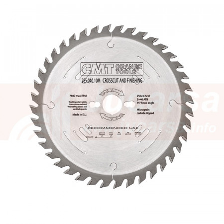 Disco para melamina 300X3.2X30 Z48