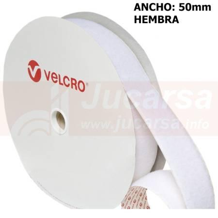 METROS ADHESIVO VELCRO 50mm BLANCO-HEMBRA