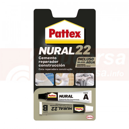 NURAL 22 Cemento reparador bajo agua 2 x 11 ml