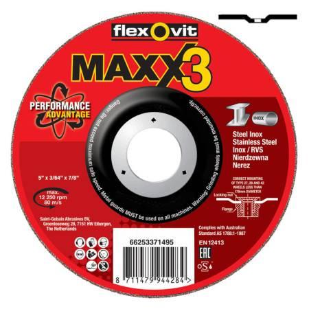 DISCO CORTE DESBASTE MAXX3 115x7.0x22.23 NQ24 P-BF27