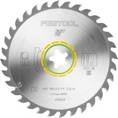 Hoja de sierra universal 190x2,6 FF W32