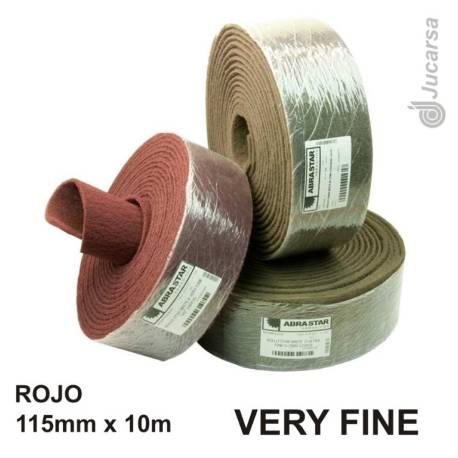 ROLLO ROJO FIBRA A. VERY FINE 10X115