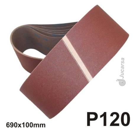 PAQUETE 10 UND BANDA PORTATIL 100X690 P120