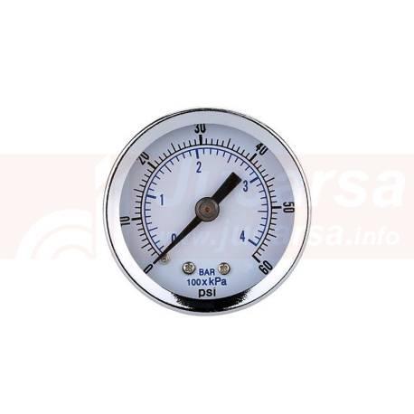 "Manómetro 50 mm rosca posterior 1/8"" 0-12 bar"