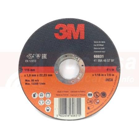 DISCO DE CORTE T41 INOX G46 115MMX1MM