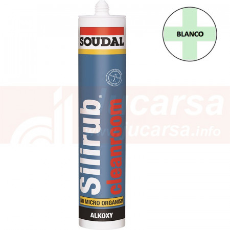 Cartucho 310 ml. SILIRUB CLEANROOM BLANCO