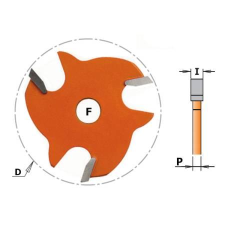 FRESA CIRCULAR PARA RANURAS Z3 HM F 8 D 47.6X1.6