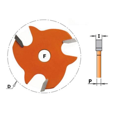 FRESA CIRCULAR PARA RANURAS Z3 HM F 8 D 47.6X2.2