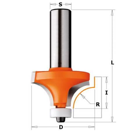 FRESA R CONCAVO C RODAM HM S8 I12.7 R3 D18.7