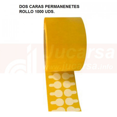 ROLLO 1000UDS DISCO DOBLE CARA PERMANENTE Ø20 mm