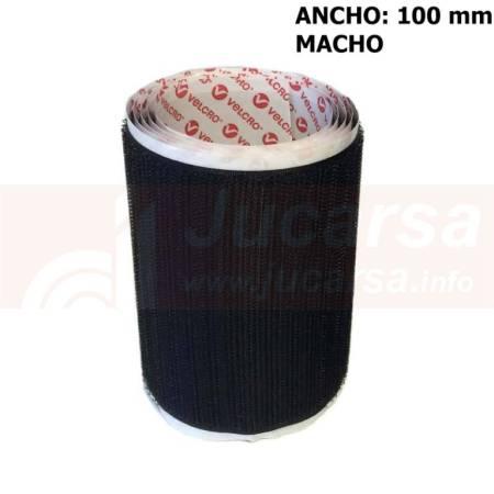 Metro velcro adhesivo A-100mm negro macho