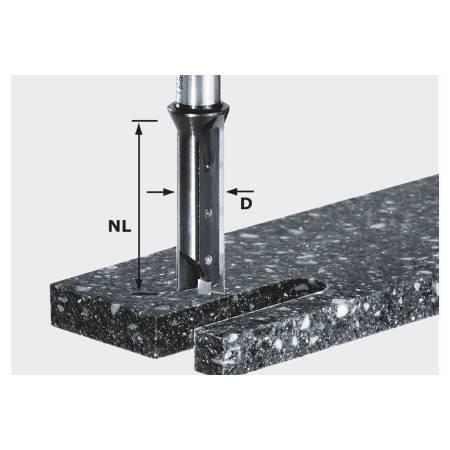 Festool Fresa para ranurar de placa reversible HW, vástago 12 mm HW S12 D14/45 WM
