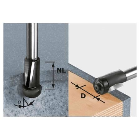 Festool Fresa de precisión para enrasar HW, vástago 12 mm HW D19/25 ss S12