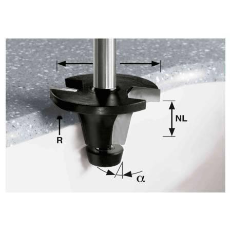 Festool Fresa para encimeras HW, vástago 12 m HW R6.35/25/6° ss S12