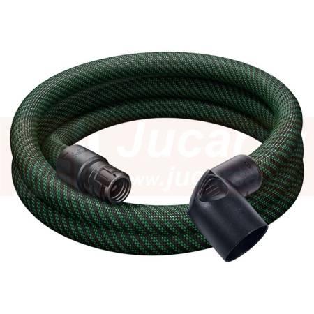 Festool Tubo flexible de aspiración D 27 antiestático liso D 27x3,0m-AS-90°/CT