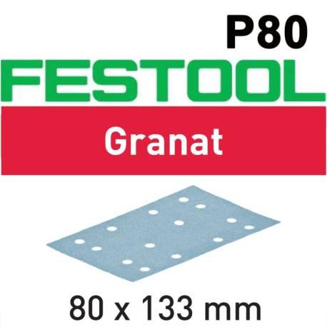 Festool Hoja de lijar STF 80x133 P80 GR/50