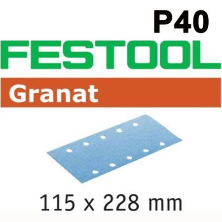Hoja de lijar STF 115X228 P40 GR/50 Granat
