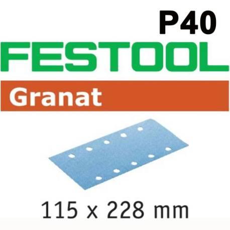Festool Hoja de lijar STF 115X228 P40 GR/50