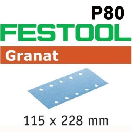 Hoja de lijar STF 115X228 P80 GR/50 Granat