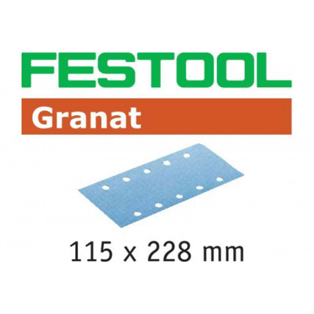 Hoja de lijar STF 115X228 P120 GR/100 Granat