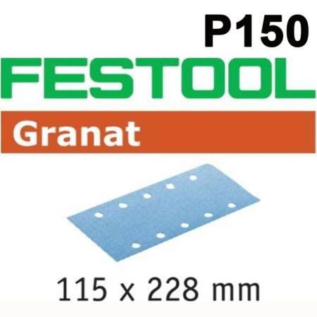 Hoja de lijar STF 115X228 P150 GR/100 Granat
