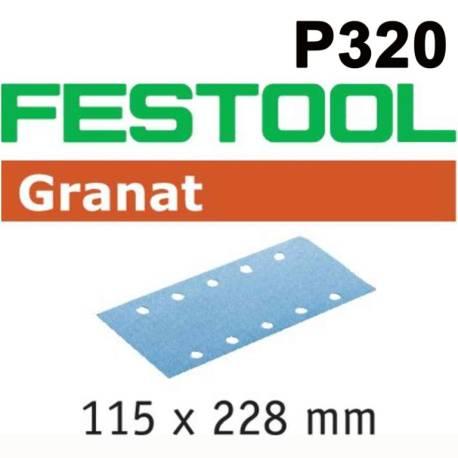 Festool Hoja de lijar STF 115X228 P320 GR/100