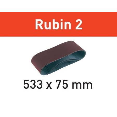 Banda de lijar L533X 75-P120 RU2/10 Rubin 2